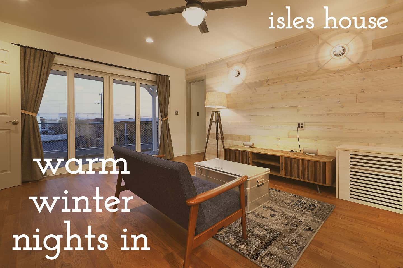 寒い冬を暖かい家で過ごす幸せ。画像では伝わりませんがモデルハウスや完成内覧会に来ていただければ分かっていただけます。#アイルズハウス施工例