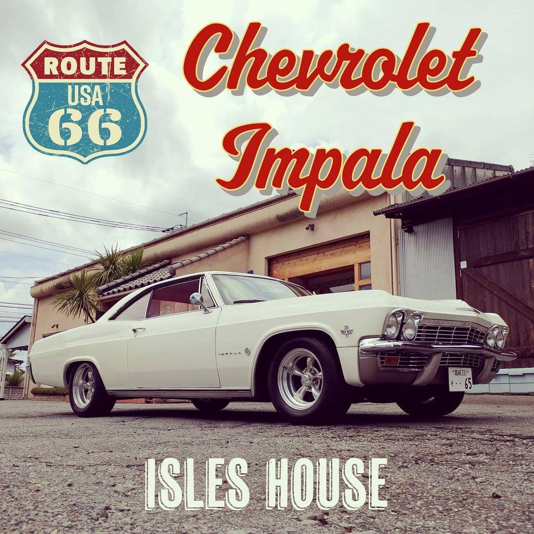 アイルズハウスのモデルハウスにシボレー インパラ1965が仲間入り! マッスルカー&ビルトインガレージ。 #アイルズハウスモデルガレージ #アイルズハウスモデルハウス #impala #chevroletimpala #インパラ #シボレーインパラ