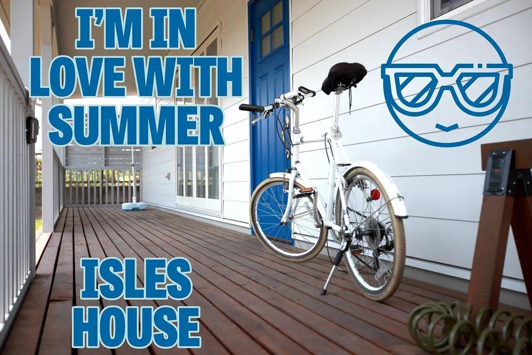 夏の陽射しを避け、家の中の温度上昇を抑えるカヴァードポーチ。アイルズハウスは標準装備です。
